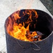 Burning of fake money and paper materials — Foto Stock