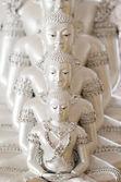 Beautiful white Buddha statue — Stock Photo