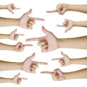 Isolated hands pointing — Stock Photo