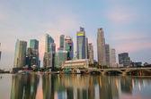 Vistas del distrito financiero de singapur ciudad — Foto de Stock