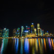 Stock Photo: Singapore city skyline view of business district in the night ti