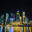 Singapore city skyline view of business district in the night ti — Stock Photo #27987997
