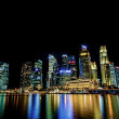 Singapore city skyline view of business district in the night ti — Stock Photo