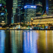 Singapore city skyline view of business district in the night ti — Stock Photo #28002893