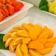 Set of fresh fruits for party — Stock Photo