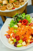 Thai style food spicy vegetables and fruits salad — Stock Photo