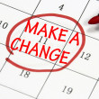 Make a change sign written with pen on calendar — Stock Photo #18437185