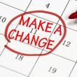 Make change sign written with pen on calendar — Stock Photo #18437185