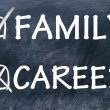 Choice family and career — Stock Photo