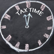 Abstract tax time sign  — Zdjęcie stockowe