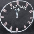 Abstract tax time sign  — Stok fotoğraf