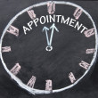 Appointment clock sign — 图库照片