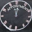 Appointment clock sign — Stock Photo
