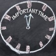 Important time clock sign — Stock Photo #22437259