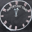 Important time clock sign - Stock Photo