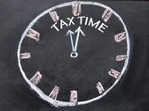 Abstract tax time sign — Stock Photo