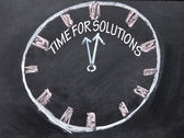 Time for solution clock sign — Stock Photo