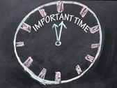 Important time clock sign — Stock Photo