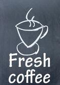 Fresh coffee sign — Stock Photo