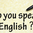 Do you speak english sign  — Stock Photo