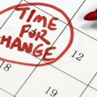 Time for change sign written with pen on calendar — Stock Photo #22955472
