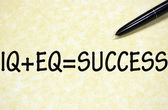 Formula for success written with pen on paper — Photo