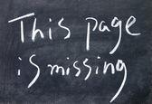 Bu sayfa başlığı ile Tebeşir tahtaya yazılan eksik — Stok fotoğraf