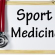 Sport medicine sign — Stock Photo
