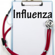 Influenza sign — Stock Photo