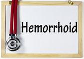 Hemoroidy znak — Zdjęcie stockowe