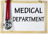 Medical department sign — Stock Photo