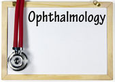 Ophthalmology diagnosis sign — Foto Stock