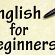 English for beginners title written with pen on paper - Stock Photo