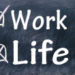 Work or life choices — Stock Photo