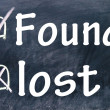 Stock Photo: Lost and found choice