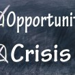 Crisis or opportunity choice — Stock Photo