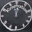 Reservation time sign — Stock Photo