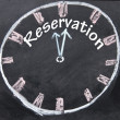 Reservation time sign — Stock Photo #23554827