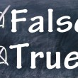 Stock Photo: True and false choice