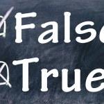 True and false choice — Stock Photo