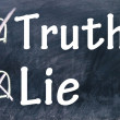 Lie and truth choice — Stock Photo
