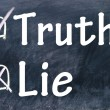 Royalty-Free Stock Photo: Lie and truth choice