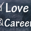 Love and career choice — Stock Photo #23554891