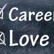 Career and love choice — Stock Photo #23554901