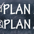 Plan a and plan b choice — Foto de Stock