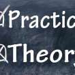 Постер, плакат: Practice and theory choice