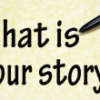 What is your story title written with pen on paper — Stock Photo #23555075
