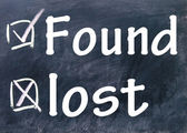 Lost and found choice — Stock Photo