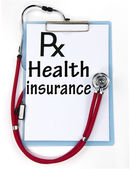 Health insurance sign — Foto de Stock