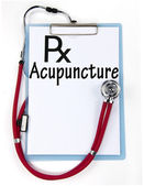 Acupuncture diagnosis sign — Stock Photo